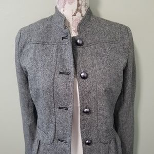 Apt 9 womens gray blazer button up jacket sz 4